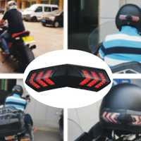 Advertencia de freno de motocicleta impermeable al aire libre Led de conducción nocturna señal de giro Universal casco Luz Accesorios inalámbrico inteligente ABS