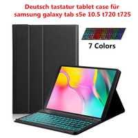 Clavier allemand étui pour samsung Galaxy Tab S5e 10.5 T720 T725 sans fil rétro-éclairé clavier étui pour tablette étui pour tablette en cuir Pu