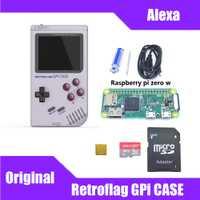 En Stock! Étui Original Retroflag GPi avec 32G Micro SD carte dissipateur thermique sac de transport pour framboise Pi zéro/zéro W