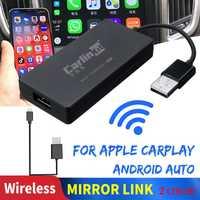 Carlinkit Carplay A3 inalámbrico para Apple Carplay Adaptador Android Auto Dongle coche jugar Iphone coche USB WIFI Bluetoot enlace espejo