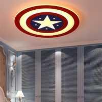 Luces de techo LED para niños para habitación de bebé luz Capitán América adornos navideños para el hogar Luz de techo de guardería