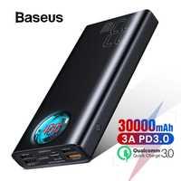 Baseus 30000mAh batterie externe USB C PD 3.0 Charge rapide + Charge rapide 3.0 batterie externe Portable pour Samsung ordinateur Portable Powerbank