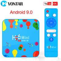 VONTAR 4GB 128GB H96 Mini Android 9.0 TV Box Allwinner H6 Quad Core 6K H.265 Wifi netflix Youtube décodeur H96mini 4GB32GB