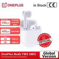 coupon de magasin: 70 $ - 5 $ Version mondiale OnePlus bourgeons TWS sans fil écouteurs suppression du bruit environnemental 3Mic Oneplus 7t 8 Pro Nord VS balle 2