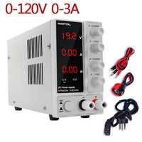 NPS1203W réglable laboratoire alimentation tension et régulateur de courant unité d'alimentation banc Source numérique 120V3A