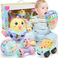 Juguete para bebé sonajero de juguete para bebés inteligencia de plástico cascabel manual divertido educativo para bebés móviles juguetes educativos para niños pequeños