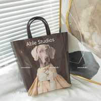 Nouveau Cool chien impression Magazine affiche sac femmes Shopping fourre-tout bandoulière personnalité sac à main grande capacité épaule sac de messager