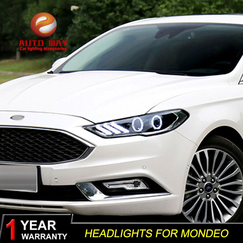 MDE US $576.00 Car Styling Head Lamp case for Ford mondeo Headlights 2017 2018 Headlights LED Headlight DRL Lens Double Beam Bi-Xenon HID