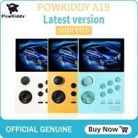 POWKIDDY A19 boîte de pandore Android suprétro console de jeu portable écran IPS intégré 3000 + jeux 30 jeux 3D téléchargement WiFi