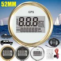Velocímetro Digital para coche, odómetro GPS, 52mm, 0-999 nudos, km/h mph, 12 V/24 V con retroiluminación, barco, motocicleta, barco, Coche