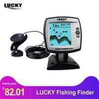 LUCKY 125KHz Sonar frecuencia buscador de pesca 300 m/980ft buscador de peces de profundidad eco sondas barco buscador de peces FF918-WLS