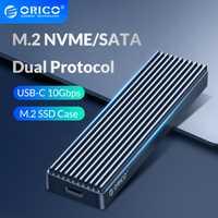 ORICO double protocole M.2 boîtier SSD prise en charge M2 NVME NGFF SATA disque SSD pour clé PCIE M B + M clé USB C 10Gbps boîtier de disque dur