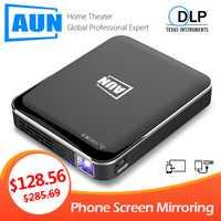 AUN MINI projecteur X3, miroir d'écran de téléphone Android/IOS, système multimédia, projecteur Portable pour 1080P Home Cinema, projecteur 3D