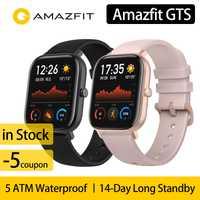 [En Stock] Version mondiale Amazfit GTS montre intelligente 5ATM étanche 14 jours batterie huami GPS sport montre pour xiaomi IOS téléphone