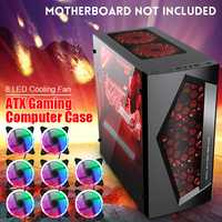 V3 ATX ordinateur de jeu PC boîtier 8 Ports de ventilateur USB 3.0 pour M-ATX/Mini ITX carte mère noir/blanc 370x185x380mm