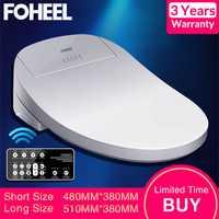 FOHEEL Asiento de baño inteligente cubierta de bidé eléctrico asiento de inodoro con calefacción inteligente luz Led Wc tapa de asiento de inodoro inteligente