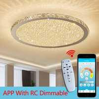 Lustres en cristal modernes lumières éclairage à la maison ledlamp salon chambre plafonnier LED ronde lustre lampadari luminaires