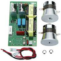 Carte d'appareil de contrôle de fréquence de conducteur de puissance de décapant ultrasonique à ca 220v 60 w-100 w avec 2 pièces 50w 40khz transducteurs