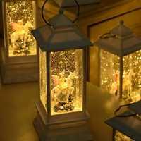 Novedad caja de música para niños regalos de cumpleaños para niños lámpara de habitación de mesa de música luz de noche decoración de Navidad para la decoración del hogar
