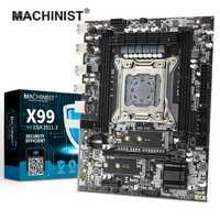 MACHINIST X99 carte mère de bureau LGA 2011-3 LGA2011-3 avec double fente M.2 NVME prend en charge quatre canaux DDR4 ECC SATA3.0 USB3.0