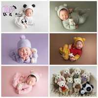 3 pièces/ensemble nouveau-né bébé garçon fille dessin animé chapeau + barboteuses photographie accessoires infantile fotografia accessoires bébé Photo Shoot tenues accessoire