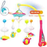 Colorido estrella de proyección de juguete para bebé cama de bebé sonajero música giratoria educación temprana juguete educativo estrella colgante juguete infantil #30