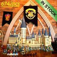 16060 en stock film H verrues château école magique modèle 6742 pièces bloc de construction brique Compatible avec 71043 75948 16030/4842 jouets