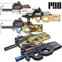 Électrique P90 jouet pistolet eau balle Paintball Sniper pistolet Graffiti en direct CS assaut Snipe jeu de plein air arme jouets pour garçons enfant