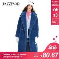 JAZZEVAR 2019 hiver nouveauté manteau de fourrure femmes nouveau style de mode ours en peluche manteau vêtements amples long chaud manteau d'hiver K9063