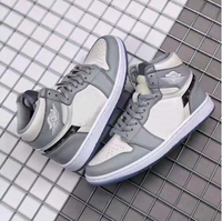 2020 nouvelle marque authentique OG gris et blanc 1:1 hommes haut haut basket chaussures chaussures en plein air de haute qualité livraison gratuite