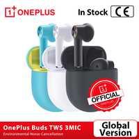 coupon de magasin: 70 $ - 5 $ Version mondiale OnePlus bourgeons TWS sans fil Bluetooth 5.0 écouteurs 3mic suppression de bruit environnemental pour Oneplus 8 8Pro Nord
