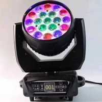 Espagne pologne états-unis RU led lavage zoom 19x15w rgbw lampe frontale mobile avec fonction CTO nouvelle version zoom lavage tête mobile lumière de lavage