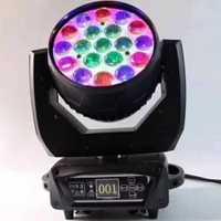 Led lavage zoom 19x15w rgbw lumière principale mobile zoom tête mobile nouvelle lumière de lavage de tête mobile
