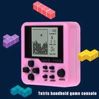 Mini Tetris tenue dans la main Machine de jeu jouets électroniques brique jouets jeu éducatif 72XC