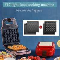 F17 DIY sándwich a la parrilla máquina de desayuno multifuncional Waffle máquina tostadora casera a la parrilla