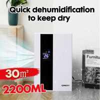 2.2L deshumidificador de hogar inteligente pantalla grande LCD secador de aire automático Cubo de apagado completo purificador con control remoto