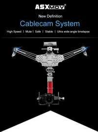 ASXMOV 4 m/s 20kg carga útil panorama timelapse disparo de vídeo aéreo cardán enfoque cablecam sistema APP control inalámbrico