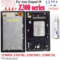 WEIDA pour Asus Zenpad 10 Z300M Z301ML Z301MFL Z300CNL câble jaune 1280*800 LCD écran tactile cadre d'assemblage pour Z300 LCD