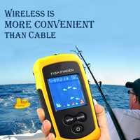 PureLeisure 2020 buscador de peces portátil alarma de pesca buscador de peces Sonar LCD señuelo de pesca eco Sounder buscador de pesca alarma 100M conjunto
