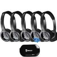 5 Pack 2,4G transmisor inalámbrico funda de Audio en Auriculares auriculares para Samsung, LG, TCL, xiaomi Sony Sharp Levono Honor TV
