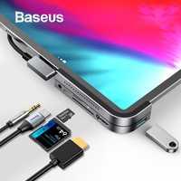 Baseus USB C a USB 3,0 HDMI HUB USB para iPad Pro tipo C para MacBook Pro de acoplamiento estación Multi 6 puertos USB tipo C HUB