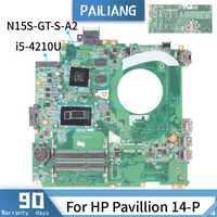 Placa base PAILIANG para ordenador portátil HP Pavillion 14-P placa base DAY11AMB6E0 Core SR1EF I5-4210U N15S-GT-S-A2 probado DDR3