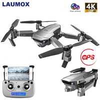 1080P 4K Cámara dual de HD WIFI FPV RC Drone de flujo óptico plegable helicóptero profesional