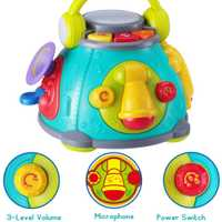 HOLA 3119 Baby actividad cubo Centro de juego, juguetes musicales para niños con luces, juguetes para niños regalo de Navidad