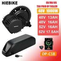 48v 1000w Bafang Motor BBSHD BBS03B Kit de conversión de bicicleta eléctrica con batería 48V 13/16AH 52v 16/17. 5ah Ebike Motor de medio accionamiento