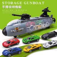 Aviones de guerra con 6 pequeños coches de aleación de Metal fundido a presión modelo de coche militar conjunto transportador camión niños juguetes regalo para chico