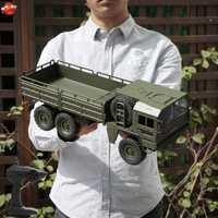 Niño Navidad modelo militar camión RC juguete 1:16 RC 6WD simulación vehículo transportador juguete Control remoto camión