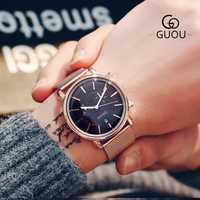 Nuevo reloj clásico minimalista Simple para hombre, reloj de pulsera de cuarzo de acero inoxidable para hombre