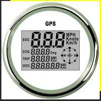 Velocímetro Digital GPS odómetro 85mm 0-999 nudos km/h mph 12 V/24 V con retroiluminación barco motocicleta Coche