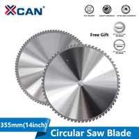 Hoja de corte de Metal XCAN de 355mm(14 pulgadas), hoja de sierra Circular de 66/90 T para sierra de disco de corte de Metal de hierro y aluminio, hoja de sierra de carburo